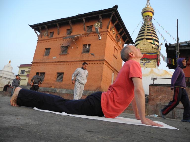 Ćwiczenia tybetańskie ze ŚWIĄTYNI SWAJAMBHUNATH
